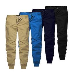 Wholesale mens korean fashion clothes - 4colors Korean Hip Hop Fashion Pants With Zippers Factory Connection Mens Urban Clothing Joggers Men Plus Size XXXL