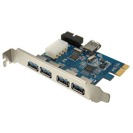 Wholesale Pci Hub - Brand New PCI-E Express Adapter 4+1 Port USB 3.0 HUB Internal Expansion Card Top Quality