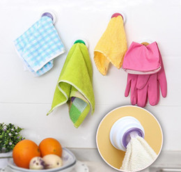 Immagazzinaggio degli attrezzi online-Lavare il supporto di clip di stoffa Clip Dishclout Storage Rack Asciugamani clip Ganci Bagno di stoccaggio in camera Asciugamano Rack strumenti di cucina