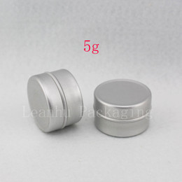 Wholesale Metal Lipstick Containers - 5g empty aluminum cream jar with slip on lids, metal container for lip gloss storage ,5g empty lipstick aluminum bottle tin