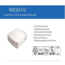 Wholesale Udp Dns - DAHUA Mini 4ch 4POE Smart 1U NVR support MAX 6MP Recording Resolution Onvif 2.4 Support 1HDD NVR2104-P-S2