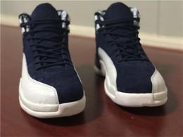 sports shoes 4b595 d6d44 2019 großhandel college schuhe 12 International Flight Basketball Schuhe  Großhandel Männer 12 S Xii College Marineblau