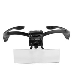 Wholesale glass leds - SOSW-Loupes Glasses Magnifying Glass with 2 LEDs 5 Lens Magnification Repair