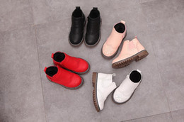 Wholesale Short Fur Fabric - 2017 new popular short tube hollow side zipper child snow boots spring and autumn short round head white girl boots