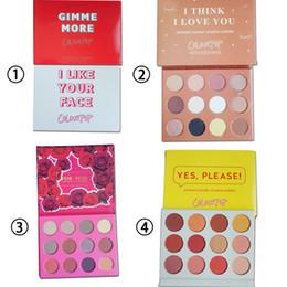 pro 12 цветов палитры теней для век Скидка Новый ColourPop Косметика для макияжа палитры 12 цветов палитры теней для век MIX DHL Бесплатная доставка универсальный 12 цветов / комплект