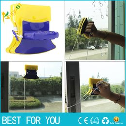 Wholesale Wholesale Window Wipers - New hot Convenient Magnetic Window Double Side Glass Wiper Cleaner Cleaning Brush Home Pad Scraper Clean Tool