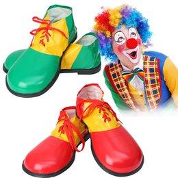 Suprimentos palhaço on-line-Sapatos Palhaço Dia Das Bruxas Executar Acessórios de Couro Artificial Palhaço Sapatos Cosplay Dress Up Suprimentos Partido Decor GGA907