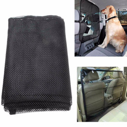 Wholesale pet guards - 115*62cm Vehicle Pet Dog Cat Safety Car Back Seat Nylon Net Mesh Barrier Guard Mesh Nets Dog Car Barriers OOA5079