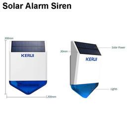 Wholesale Outdoor Alarm Siren - Original KERUI KR-SJ1 Solar Sensor Panel Siren Outdoor Wireless For Security Alarm System KERUI with Flashing Sound Response