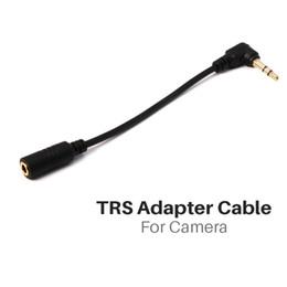 2019 cámara zoom dslr Cable adaptador Ulanzi 3.5 mm TRRS a TRS para micrófono de solapa para cámara réflex digital con zoom de cámara rebajas cámara zoom dslr