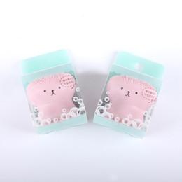 Spazzola per la pulizia del viso del massaggio online-2018 Wash Brushes Super Little Cute Octopus Face Cleaner Massaggio Soft Face Brush in silicone Viso Detergenza Blackhead