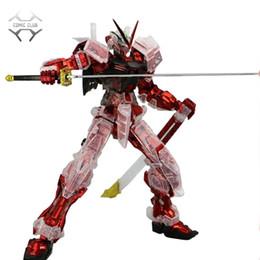 conjuntos de brinquedos de unicórnio Desconto IN-da Assembléia Mg 1/100 JIJIAXIANQU Astray Red Quadro Gundam Transparente Armadura ROBÔ MODELO Figura Anime Brinquedos Figura