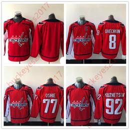 Wholesale Hot Washington - Hot Sale Washington Capitals Mens Youth Womens 8 Alexander Ovechkin 77 T. J. Oshie 92 Evgeny Kuznetsov New Brand Red Hockey Jerseys