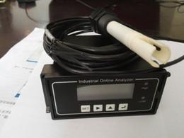 medidores de conductividad Rebajas Conductivity Monitor Tester Meter Analyzer Industial Controlador EC con sonda Rango de medición 0-20 / 200/2000 uS / cm