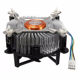 Wholesale 775 fan - High Quality Aluminum Material CPU Cooling Fan Cooler For Computer PC Quiet Silent Cooling Fan For 775 1155 1156