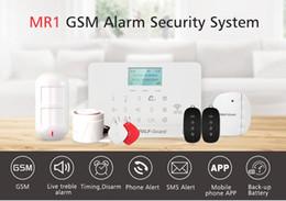 Gsm lcd sans fil en Ligne-Wolf-Guard GSM LCD Sans fil Alarme de maison Système de cambrioleur de sécurité App Capteur de porte de contrôle Détecteur de mouvement PIR double animal-immunisé Keyfob 433MHZ
