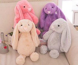 Wholesale Free Easter Decorations - Multi 7 Colors Rabbit 30cm 45cm 60cm 80cm Long Bunny Plush Toy Rabbit Grabie Wedding Doll Girl Bedroom Decoration Free Shipping