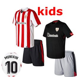 Wholesale Athletic Boy Shorts - 2017 2018 Athletic Bilbao Soccer Jerseys 17 18 Child ADURIZ GURPEGUI MUNIAIN Football Shirts 2018 Bilbao Home Kids Kits