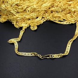 gold halskette kette arten Rabatt 50 teile / los, 3 arten Überzug sand Gold Halsketten Günstige Legierung Verdrehte ketten ohne stimulation Glänzende Nachahmung gold Halsketten Kleines geschenk