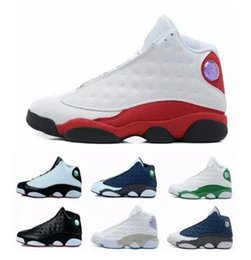 Wholesale History Pink - 2017 air retro 13 DMP Low Chutney Navy blue men basketball shoes black cat playoff Chicago History of Flight Flint He Got Game Sneaker