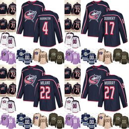 2019 Navy Alternate Columbus Blue Jackets 4 Scott Harrington 17 Brandon  Dubinsky 22 Sonny Milano 27 Ryan Murray Hockey Jerseys size S-3XL 6fdcf1e13