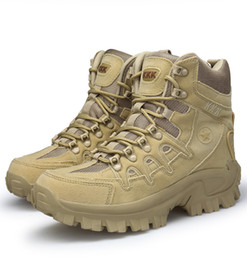 Wholesale army combat boots - Factory direct outdoor high boots wear-resistant shock-absorbing combat boots Army special tactical man boots free shopping