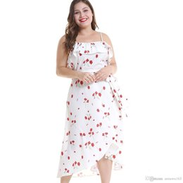 Élégant Sexy Plus Size Dress Spaghetti Strap à la cheville Floral Printed Dress Promotion Vêtements XL-4XL robes occasionnels femmes en ligne ? partir de fabricateur