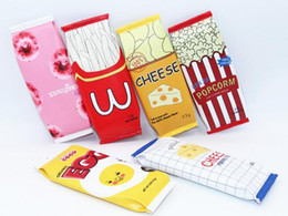 stationery packaging supplies Coupons - Hot Food packaging kawaii Macaron Cookie pencil case PU leather school pencil bag for girl stationery estojo escolar school supplies