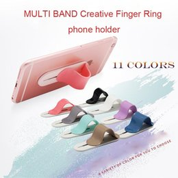 Wholesale White Finger Lights - MULTI BAND Creative Finger Ring Mobile Phone Smartphone Stand Holder for iphone samusung huawei Promotion gift Christmas gift creative phone