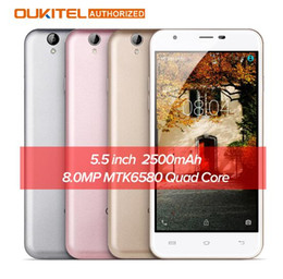 Wholesale Indonesia Stock - Original Oukitel U7 Max 3G Phablet 5.5 inch Android 6.0 MTK6580 Quad Core 1.3GHz 1GB RAM + 8GB ROM 8.0MP Rear Camera In Stock