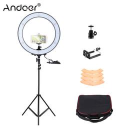 fotografische lichtkits Rabatt Andoer LA-650D 5500K 40W 600 LED Ring Licht Kit fotografische Beleuchtung Studio / Telefon / Video Fotografie Ring Lampe Licht mit Stativ