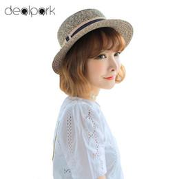 Wholesale lavender trimming - New Fashion Elegant Women Straw Hat Ribbon Trim Wide Brim Summer Sun Beach Holiday Cap Fedora Trilby Hat