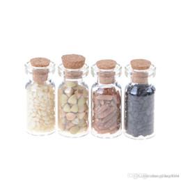Großhandel miniatur glasflaschen online-Großhandelsheißer Verkauf 1/12 Puppenhauszusätze Küchenzusatzminimöbel-trockene Glasflaschenkorn 4pcs / lot gelegentlich