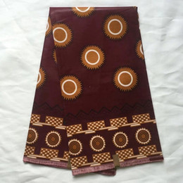 Wholesale veritable super dutch wax - Popular Brown wax prints veritable dutch real wax super hollandais wax african printed fabric for fashion show 6yards