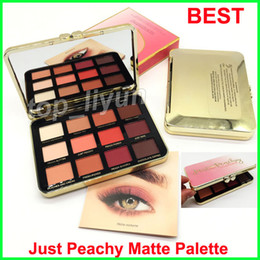 Wholesale face makeup eye shadow - Best Makeup Faced Just Peachy Mattes Eyeshadow Palette 12 Colors Eyeshadow velvet matte eye shadow palette free shipping