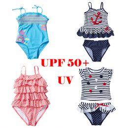 UPF 50 + UV Mayo Bebek Kız Çocuklar Genç Mayolar 12 Tasarımcı Mayo Bikini Costumi da bagno Sequins Ananas Trajes de baño nereden