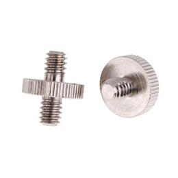 Wholesale video screw - 1 4 Male To 1 4 Male Threaded Metal Screw Adapter For Tripod Monopod Ballhead light stand Video light