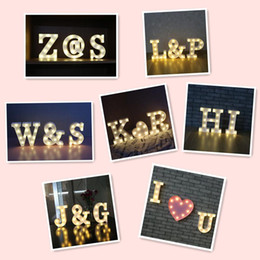 Wholesale Ce Number - DELICORE 26 Letters and 0-9 numbers White LED Night Light Marquee Sign Alphabet Lamp Bedroom Wall Hanging Decor S025M