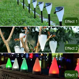 Wholesale Multifunction Led Solar - New multifunction 7Color changing Waterproof Solar LED Power Outdoor Path Light Spot Lamp Yard Garden Lawn Landscape With Hook