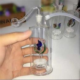Bongo silencioso on-line-Novo filtro silencioso tubo de tabaco de vidro espesso modelo de cor bong 10mm