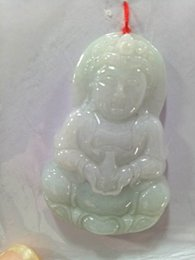 jade jadeite pendant Australia - Wholesale Certified Light Green Natural A Jade jadeite Carved Guanyin Kwan Yin God Pendant