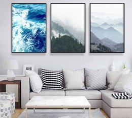 Wholesale Wall Decal Figures - 3 pictures of simple Nordic home decoration Sea and forest interior decals wall lighthouse part of the classic modern home decor