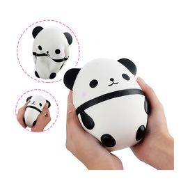 ovo squishy Desconto Panda Egg Squishy Boneca Telefone Correias Decoração Do Carro Lento Rising Kawaii Animal Kids Brinquedos Squeeze Presente Do Divertimento Macio