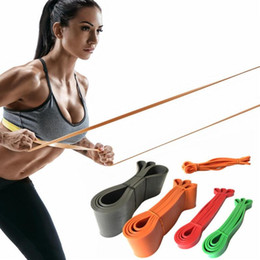resistance band training Promo Codes - Nature Latex Resistance Band Pull Up Rubber Expander Crossfit Muscle Power Training Loop Gym Yoga Workout Fitness Equipment