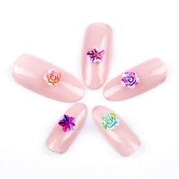 Argentina 50 unids Nuevos diseños para decoraciones del arte del clavo resina rosa flor 3d suministros de uñas YHA55 Suministro
