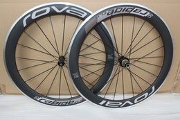 Wholesale aluminum road wheelset - Roval Road Clincher 700c 50mm or 60mm carbon Wheelset Carbon Bicycle Wheels+ Aluminum Alloy Brake Surface + hubs+ spokes+ nipples+ skewers