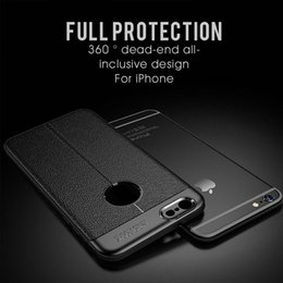 Canada Etui en cuir texturé pour iPhone 7 8 6 6 5 SE Plus Etui en silicone souple pour iPhone 5 5S SE 6 6S 7 8 X E80 cheap iphone cases plain leather Offre