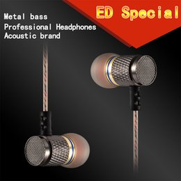 Wholesale Gold Plated Phone Housing - KZ ED2 Special Edition Gold Plated Housing Earphone with Microphone 3.5mm HD HiFi In Ear Monitor Bass Stereo Earbuds for Phone