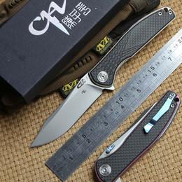 CH 3516 original Flipper tactiques couteau pliant S35VN Lame à billes roulements Titanium en fiber de carbone camping chasse couteaux de poche EDC outils ? partir de fabricateur