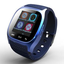 alarmes móveis Desconto 1 pcs bluetooth smart watch m26 com display led / dial / alarme / pedômetro música pedômetro de fitness para android ios htc telefone móvel